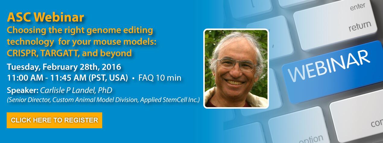 Applied StemCell Webinar